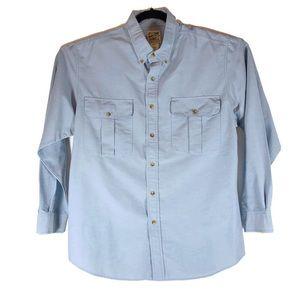 TravelSmith Men's Large Blue Longsleeve Shirt